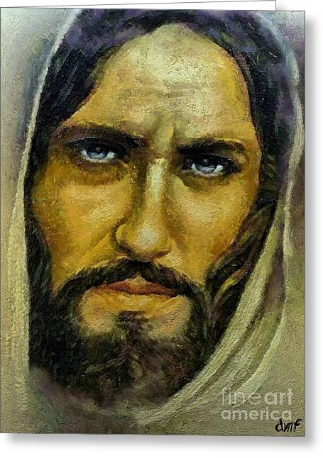 Jesus Mixed Media Greeting Cards - He can cleanse our sings Greeting Card by Dragica  Micki Fortuna