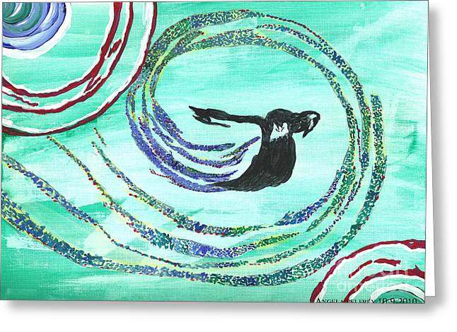 He comes in the wind Greeting Card by Angela Pelfrey