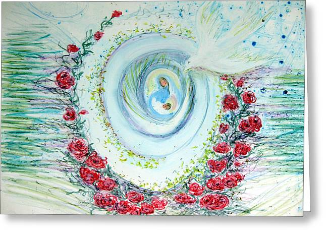 He Comes Softly Greeting Card by Sarah Hornsby