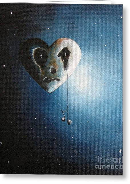 Heart Song Greeting Cards - He Cried A Song For You Today by Shawna Erback Greeting Card by Shawna Erback