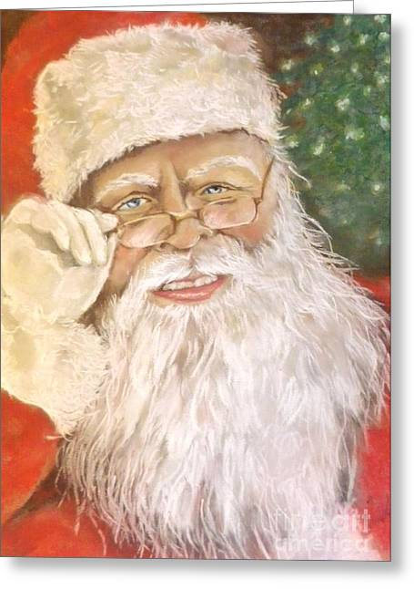 White Beard Pastels Greeting Cards - He Da Man Greeting Card by Sandra Valentini