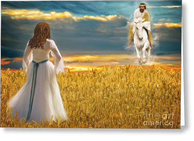Recently Sold -  - Harvest Art Greeting Cards - He Is Coming Greeting Card by Constance Woods