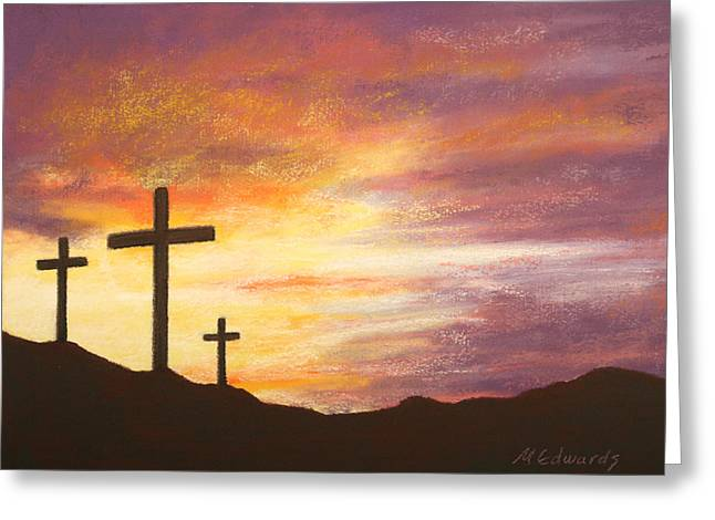 Jesus Pastels Greeting Cards - He is Risen Greeting Card by Marna Edwards Flavell