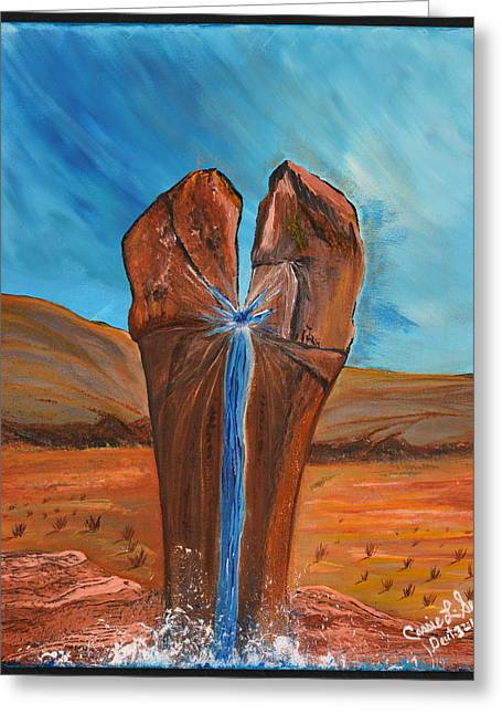 Art-by-cassie Sears Greeting Cards - He is the Rock  Greeting Card by Cassie Sears