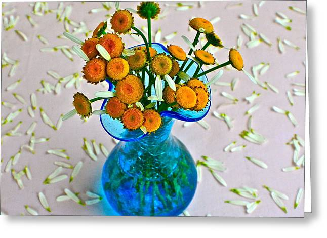He Loves me Bouquet Greeting Card by Frozen in Time Fine Art Photography