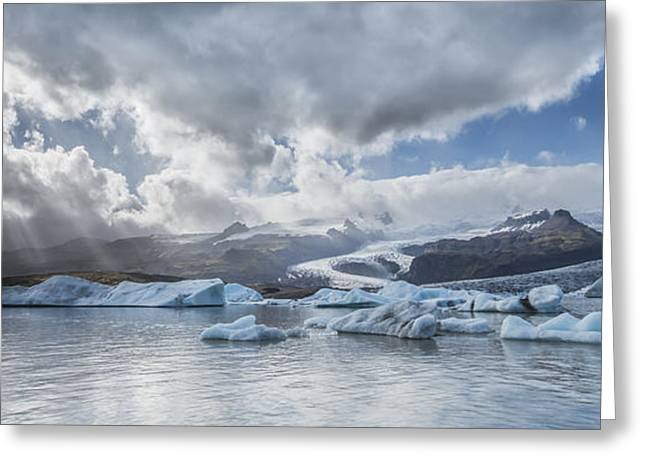 Iceland Greeting Cards - He Sees Us Greeting Card by Jon Glaser