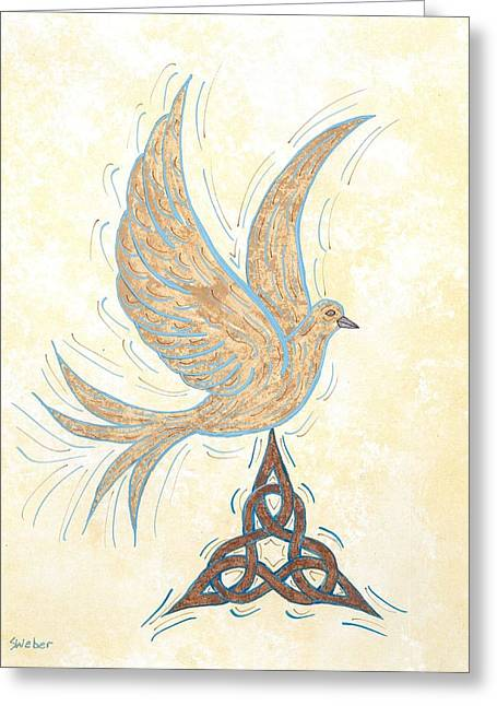 He Set Us Free Greeting Card by Susie WEBER