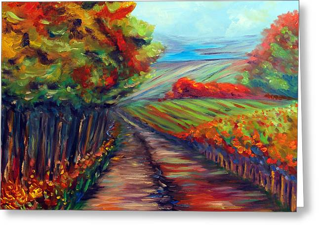 He Walks with Me Greeting Card by Meaghan Troup