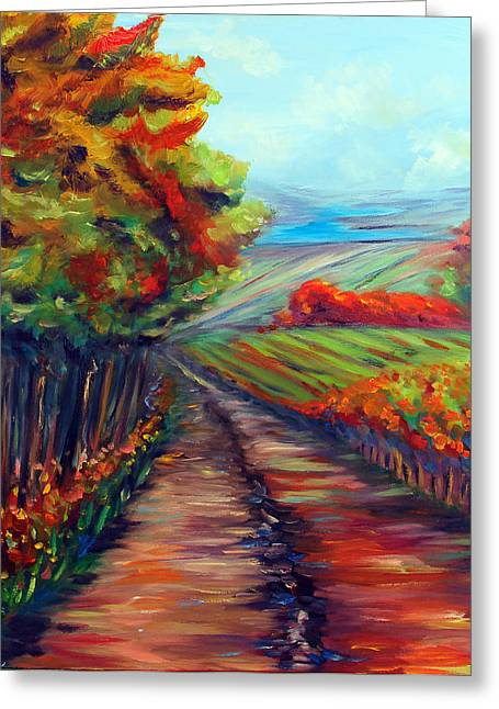 He Walks With Me Paintings Greeting Cards - He Walks with Me Greeting Card by Meaghan Troup