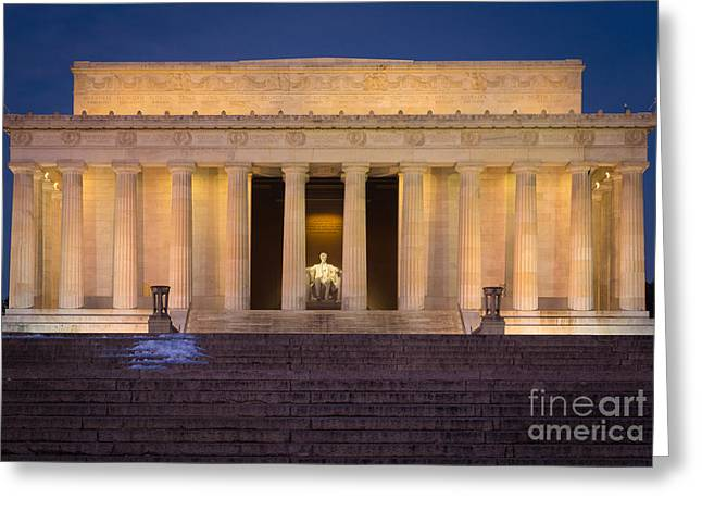 National Mall Greeting Cards - He Who Saved the Union Greeting Card by Inge Johnsson