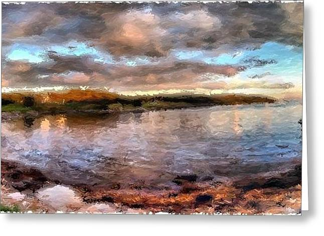Haut Mixed Media Greeting Cards - Head Harbor Isle au Haut Maine Greeting Card by Mary Fennell