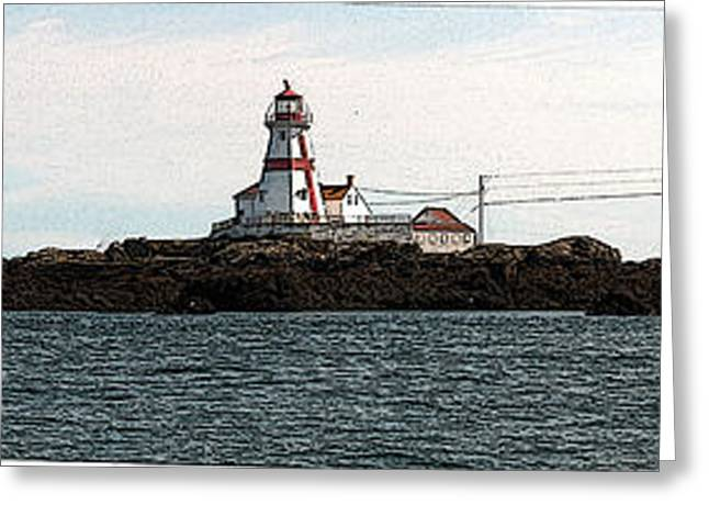 Franklin Roosevelt Digital Art Greeting Cards - Head Harbour Lighthouse Greeting Card by Art  MacKay