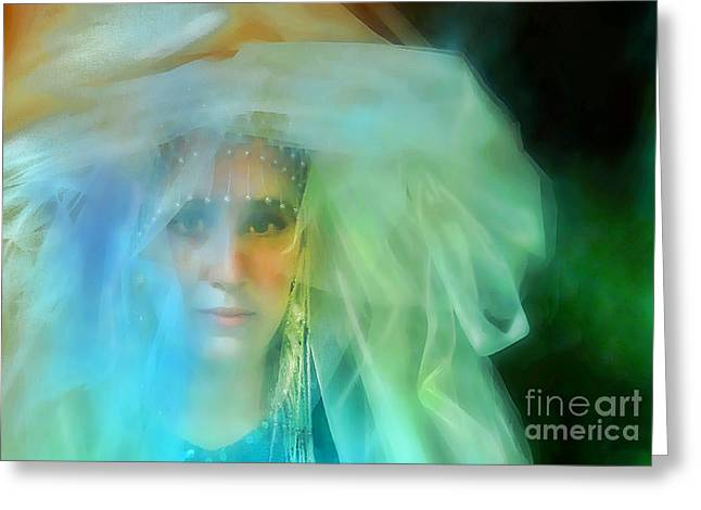 Engulfing Greeting Cards - Head in the Clouds Greeting Card by Barbara D Richards