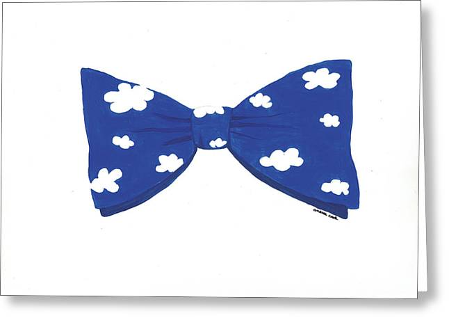 Bowtie Digital Greeting Cards - Head in the Clouds Bowtie Greeting Card by Andrea Cook
