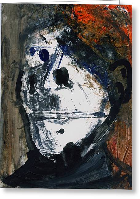 Disfigure Paintings Greeting Cards - Head Greeting Card by Luka Matijas
