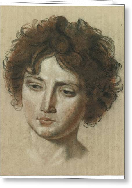 Girodet Greeting Cards - Head Of A Young Woman Greeting Card by Girodet Trioson