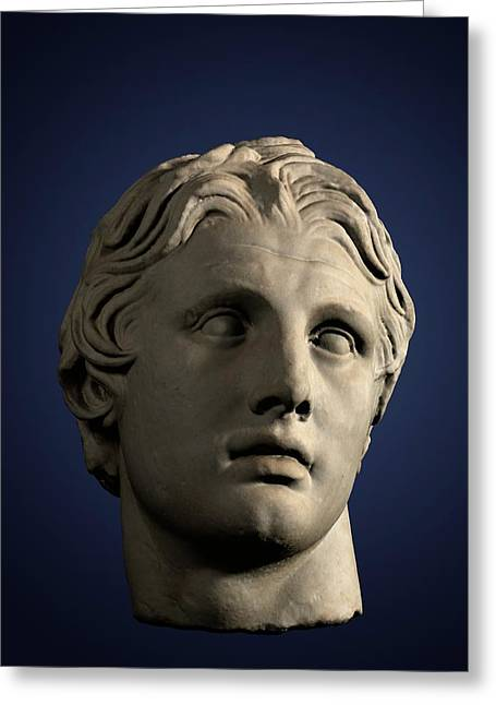 Head Of Alexander The Great Greeting Card by David Parker