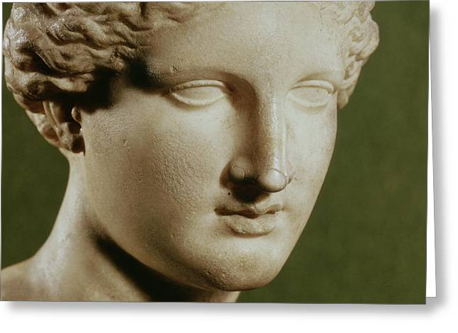 Huntress Greeting Cards - Head Of Artemis Marble Greeting Card by Greek
