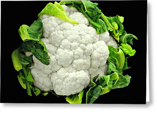 Grocer Greeting Cards - Head of Cauliflower Greeting Card by Diana Angstadt