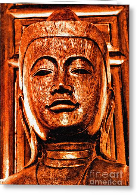 Enlightened Path Greeting Cards - Head of The Buddha Greeting Card by Beauty For God