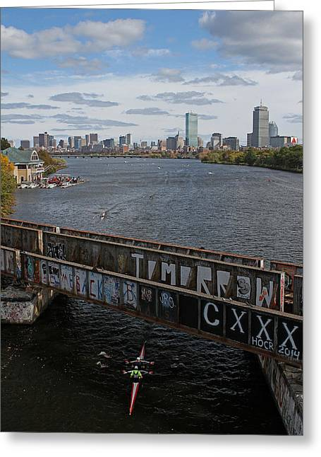 Rowing Crew Greeting Cards - Head of the Charles Greeting Card by Juergen Roth