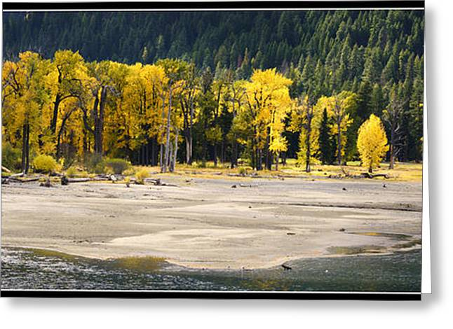 State Parks In Oregon Digital Art Greeting Cards - Head of Wallowa Lake in Autumn Greeting Card by Adele Buttolph
