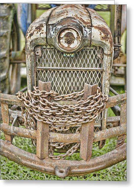 Grate Greeting Cards - Head On Greeting Card by Heather Applegate