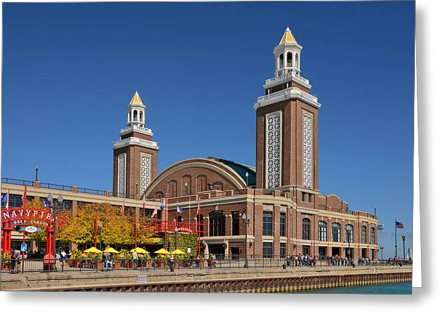 City Park Greeting Cards - Headhouse Chicago Navy Pier Greeting Card by Christine Till