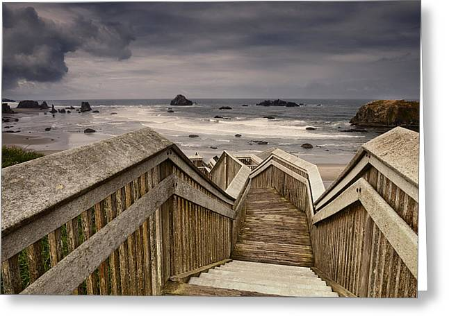 Ocean Beach Photos Greeting Cards - Heading Down to the Beach Greeting Card by Andrew Soundarajan