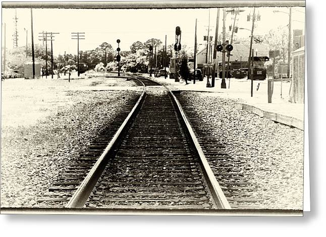 Barry Styles Greeting Cards - Railroad - Tracks - Heading East Greeting Card by Barry Jones