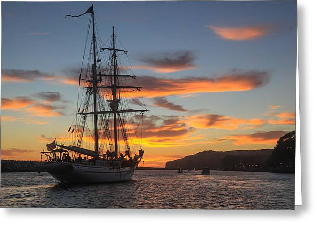 Tall Ships Greeting Cards - Heading for Home Greeting Card by Cliff Wassmann