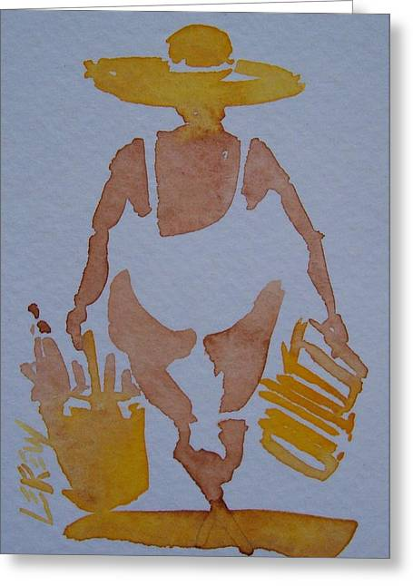 Sandy Beaches Drawings Greeting Cards - Heading For Sun Greeting Card by Larry Lerew