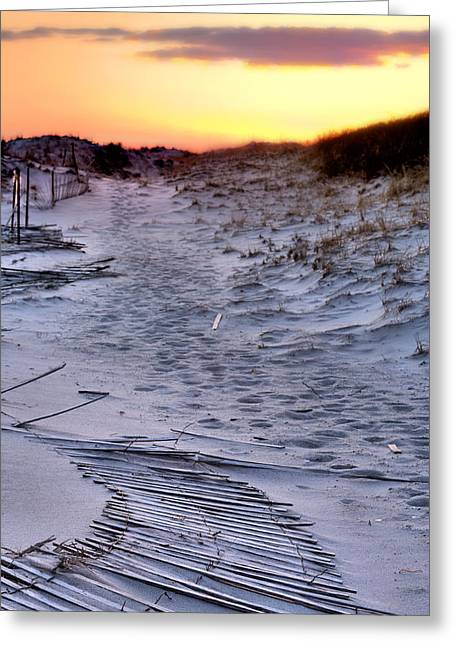 Jones Beach Greeting Cards - Heading Home Greeting Card by JC Findley
