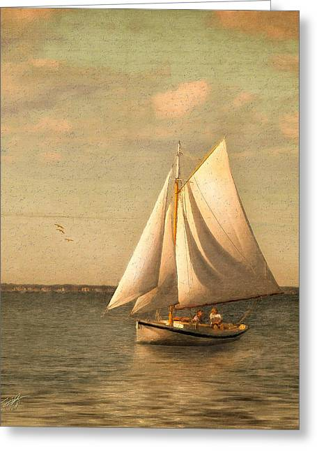 Ocean Sailing Greeting Cards - Heading In Greeting Card by Michael Petrizzo