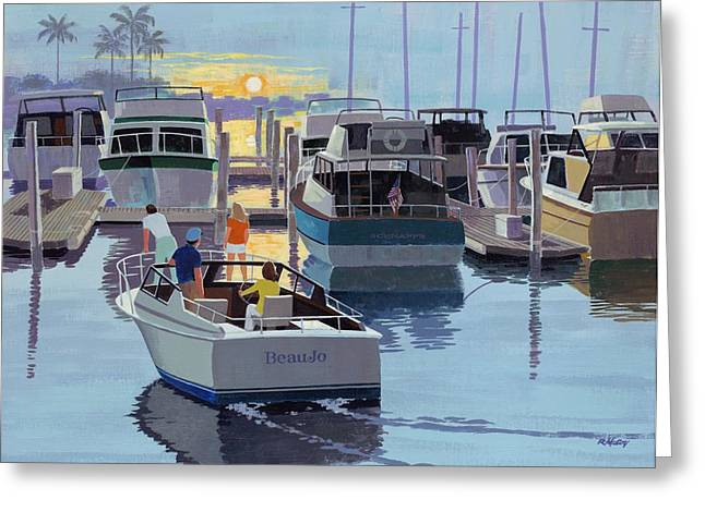 Mccoy Paintings Greeting Cards - Heading In Greeting Card by Robert McCoy