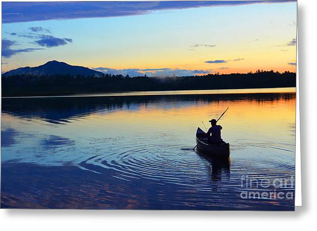 Heading Out At Sunset Greeting Card by Christine  Dekkers