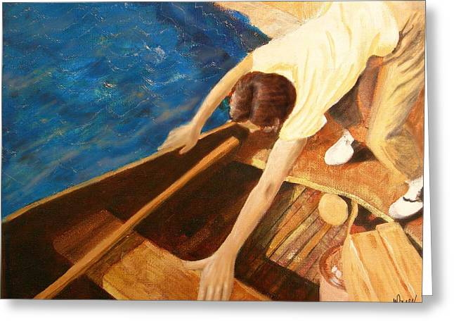 Riviere Paintings Greeting Cards - Heading out this morning Greeting Card by Michelle Berger