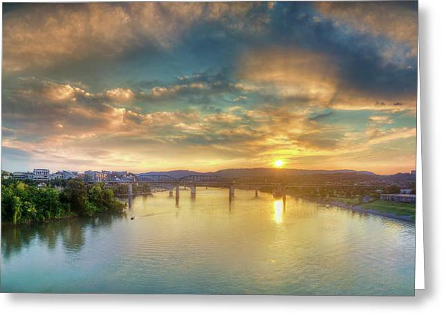 Tennessee River Greeting Cards - Heading Up River Greeting Card by Steven Llorca