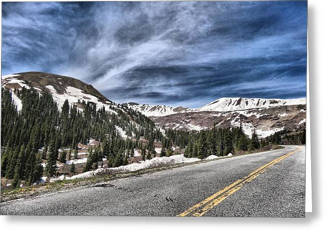 Beautiful Car Greeting Cards - Heading West Greeting Card by Dan Sproul