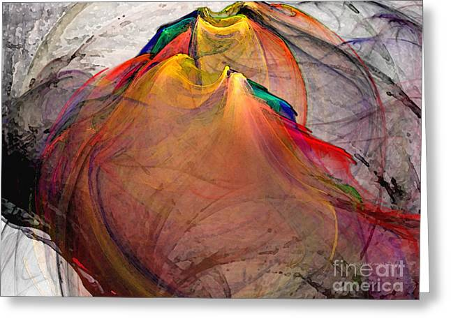 Subtile Greeting Cards - Headless-Abstract Art Greeting Card by Karin Kuhlmann