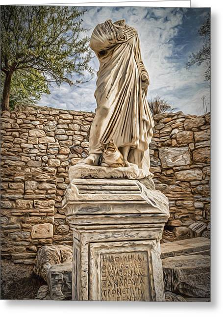 Greek Sculpture Greeting Cards - Headless Statue Greeting Card by Maria Coulson