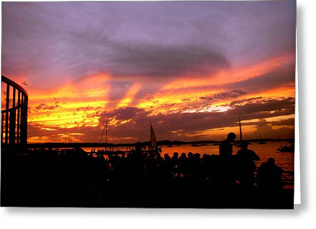 Union Terrace Greeting Cards - Headlights of Sunset Greeting Card by Zafer Gurel