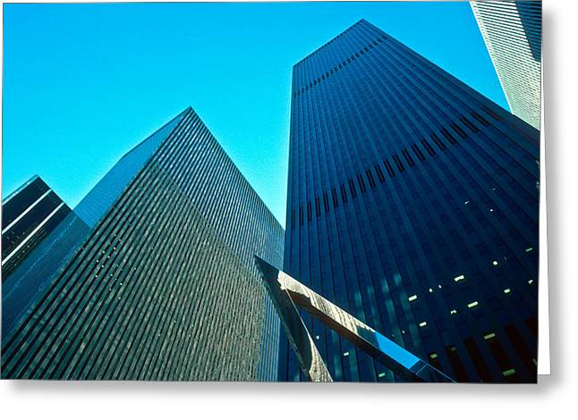 Kellice Greeting Cards - Headquarters in Midtown Manhattan Greeting Card by Kellice Swaggerty