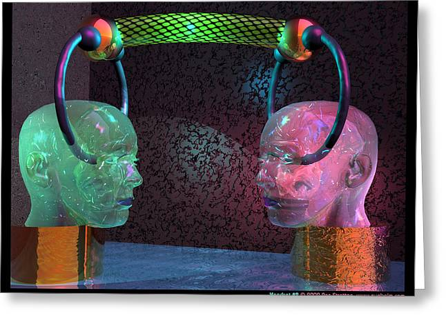 Sci-fi Greeting Cards - Headset 2 Greeting Card by Ann Stretton