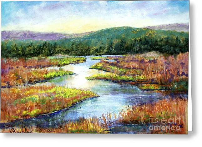 Etc. Pastels Greeting Cards - Headwaters of Blackwater Greeting Card by Bruce Schrader