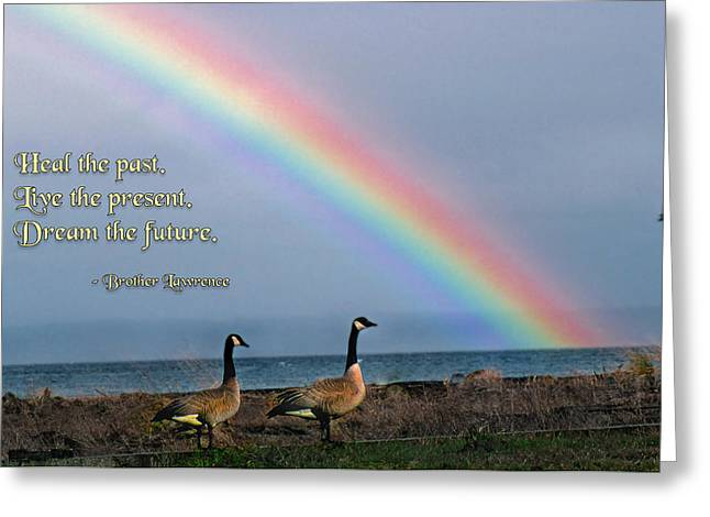 Heal the Past Greeting Card by Mike Flynn