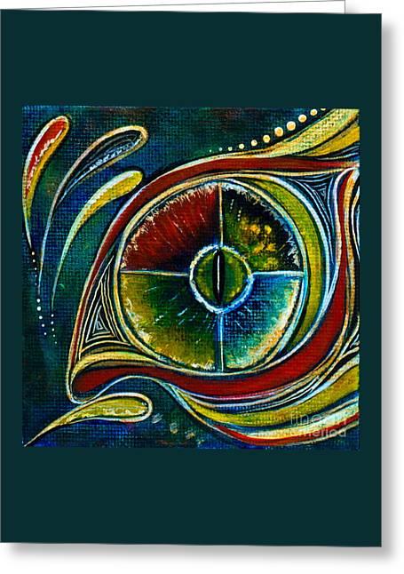 Brow Chakra Greeting Cards - Healer Spirit Eye Greeting Card by Deborha Kerr