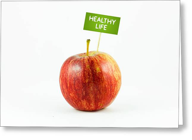 Healthy Greeting Cards - Healhty Life Greeting Card by Aged Pixel