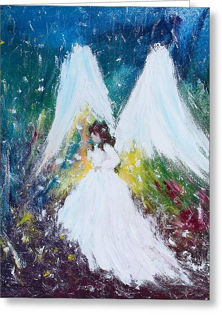 Saint Hope Greeting Cards - Healing Angel 2 Greeting Card by Kume Bryant