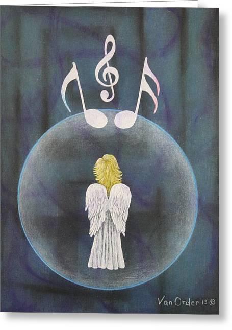Bible Pastels Greeting Cards - Healing Angel Greeting Card by Richard Van Order